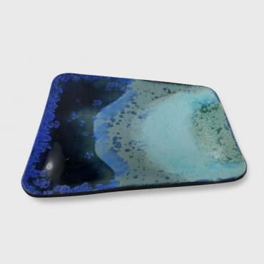 Large blue tray