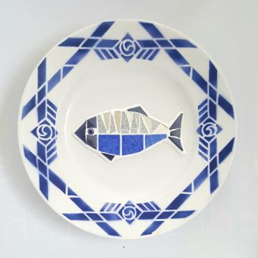 Assiettes Poiscaille Ensemble Bleu