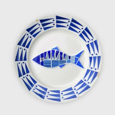 Assiette murale Poiscaille Yachting