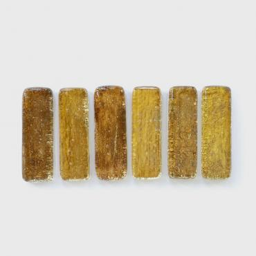 Set of 6 Knife blocks golden