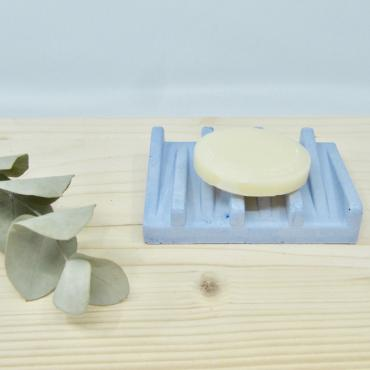 Concrete soap dish blue