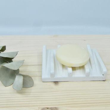 Concrete soap dish white
