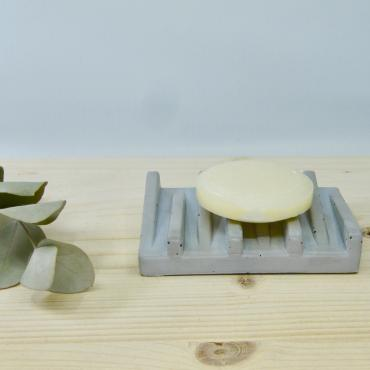 Concrete soap dish grey