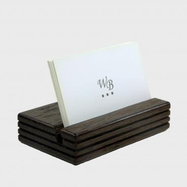 Business-card holder horizontal wengué
