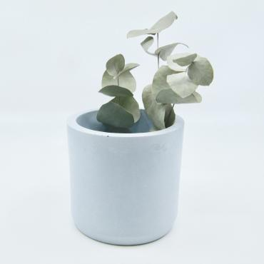 Blue concrete pot - medium