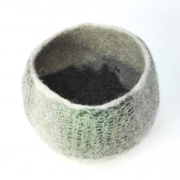 Pot Mesh&felt medium Green Lichen