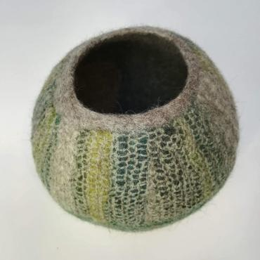 Pot in felt Moss Green M