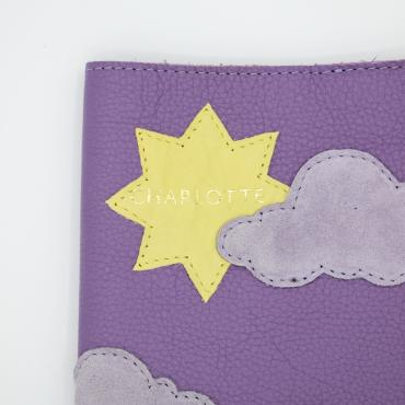 Child health record booklet in leather