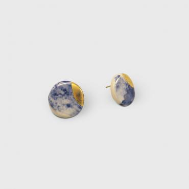 Earrings puces nuages