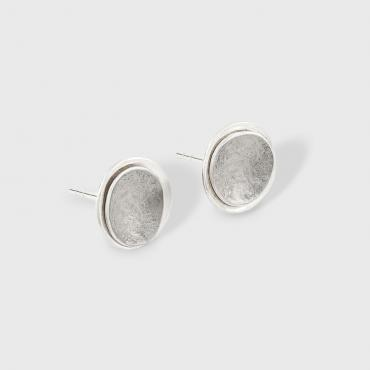 Earrings puces MOUNTAIN silver/palladium