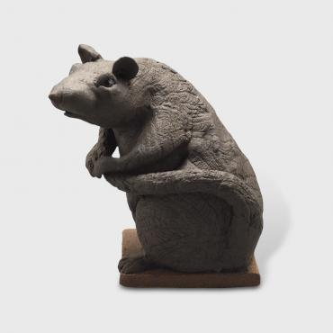 Sculpture black rat