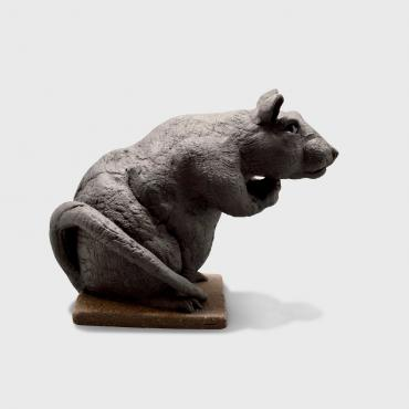Sculpture rat noir
