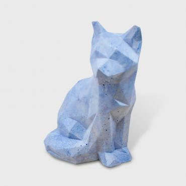 Decorative Fox in blue concrete