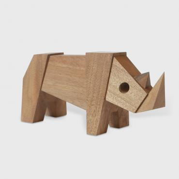 Rhinoceros in wood, collection MUZO