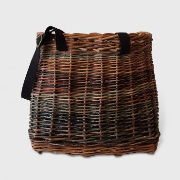 Wicker Handbag/Backpack with black supple and adjustable cotton handles