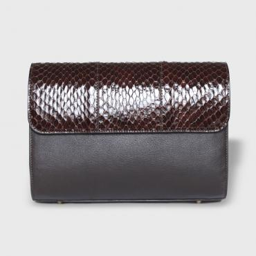 Bag Joan python brown