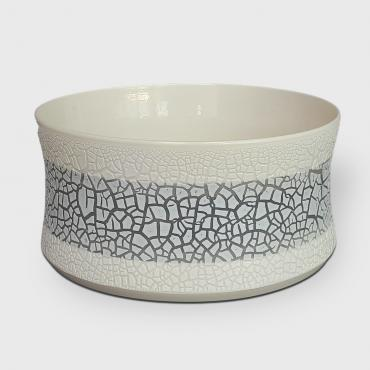 Salad bowl in porcelain