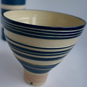 Salad bowl Blue and red Collection New Cobalt