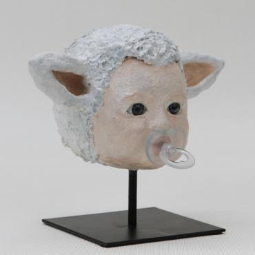 Sculpture sheep Baby lamb