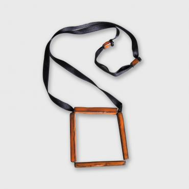 Square orange Necklace