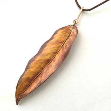 Long necklace Feuille tropical