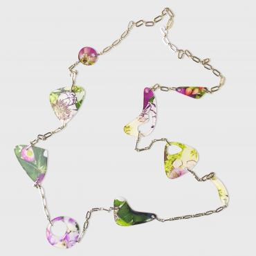 Long necklace Floral