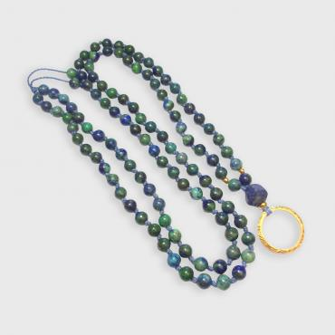Necklace Mala Azurite Malachite