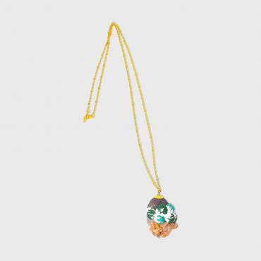 Necklace Martienne green