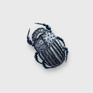 Broche Scarabée Anthracite