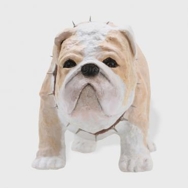 Sculpture dog Little bulldog