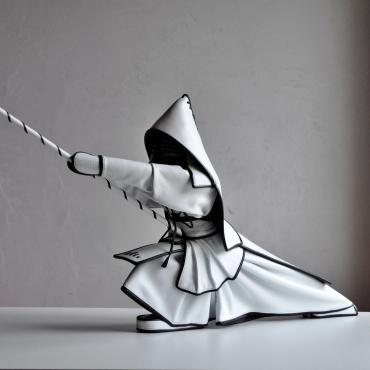 Sculpture cuir Kendo