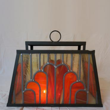 Candle holder Orange Art Nouveau