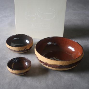 Set of 3 Bowls et Box