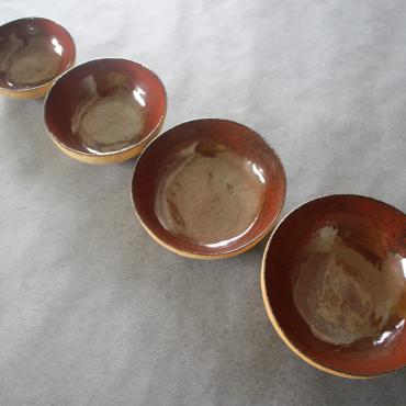 Set of 4 Bowls + Box peuplier sérigraphiée