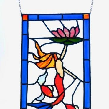 Stained-glass window Sirène Lotus