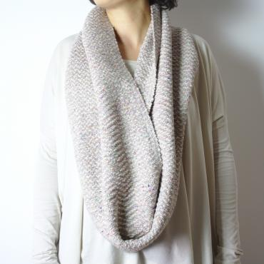 Snood ecru in cashmere