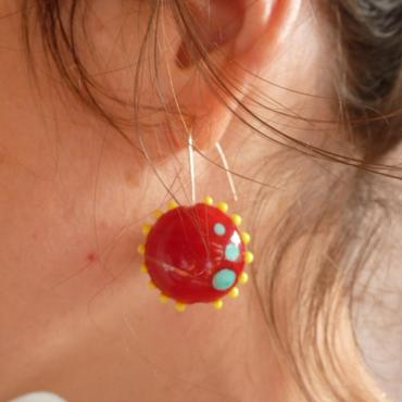 Earrings Soleil Rouge
