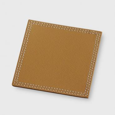 Drinks coaster in Camel leather