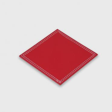 Coaster in red leather
