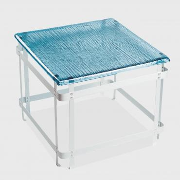 Table basse POTAGER bleue