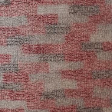 Bath mat Mesh&felt Red light pink