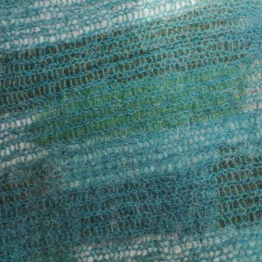 Carpet Mesh&felt Mosaïque Blue green