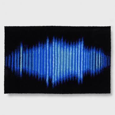 Tapis laine Blue Sound