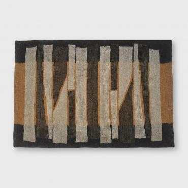 Carpet Mesh&felt Ocher/black