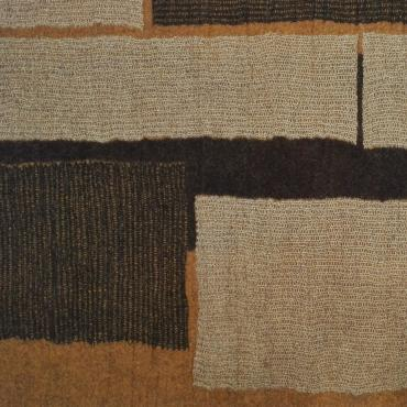 Carpet Mesh&felt Ochre/black