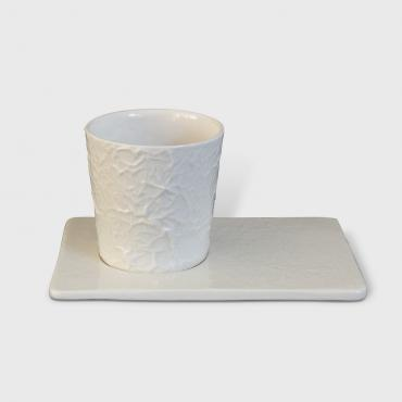 Coffee cup and tray - Collection Froissés