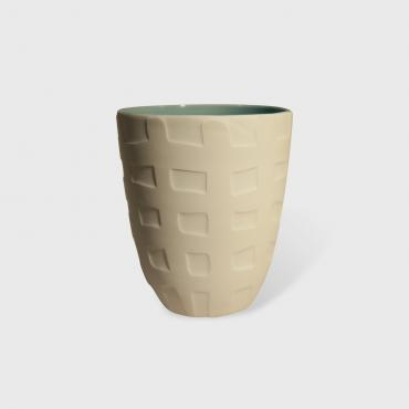 Coffee cup Celadon Quadrille