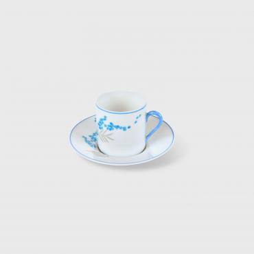 Coffee cup and saucer with Dessert plate MYOSOTIS