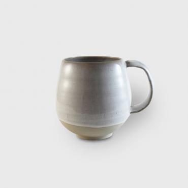 Mug GM white and raw clay