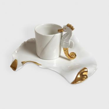 Cup and plate Seahorse
